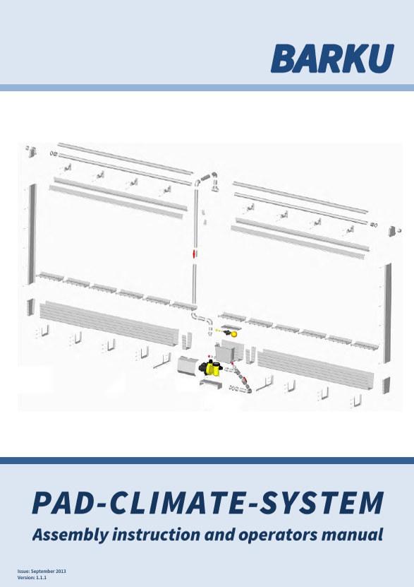 Pad-Klima-System Bedienungs- und Montageanleitung